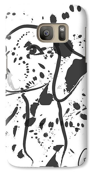 Galaxy Case featuring the painting Dog Spot by Go Van Kampen
