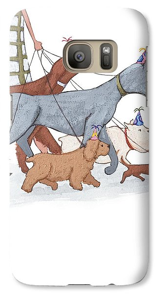 Dog Walker Galaxy Case by Christy Beckwith