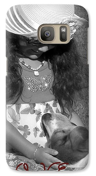 Galaxy Case featuring the photograph Doggy Love  by Heidi Manly