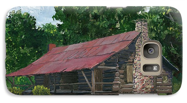 Galaxy Case featuring the painting Dogtrot House In Louisiana by Lenora  De Lude
