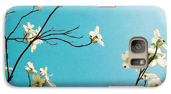 Dogwood Blooms Galaxy Case by Kim Fearheiley