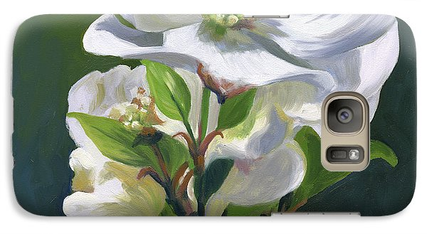 Galaxy Case featuring the painting Dogwood Blossom by Alecia Underhill