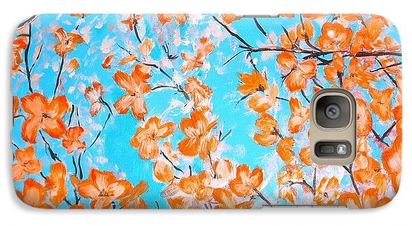 Galaxy Case featuring the painting Dogwoods by Donna Dixon