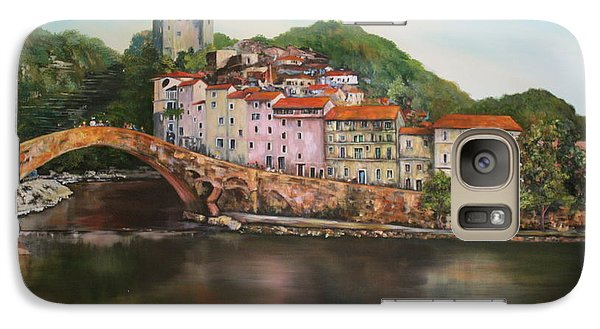 Galaxy Case featuring the painting Dolceacqua Italy by Jean Walker