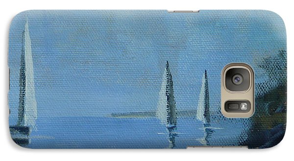 Galaxy Case featuring the painting Doldrums by Jo Appleby