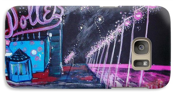 Galaxy Case featuring the painting Dolles And Orion  by Leslie Byrne