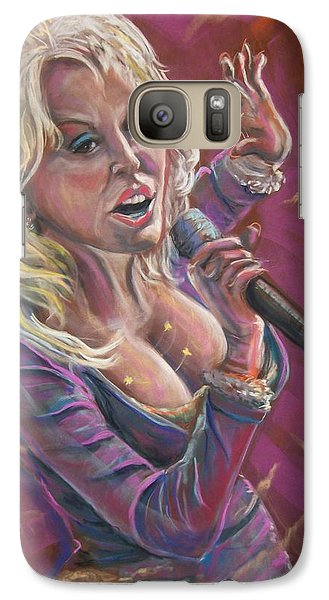 Galaxy Case featuring the pastel Dolly by Peter Suhocke