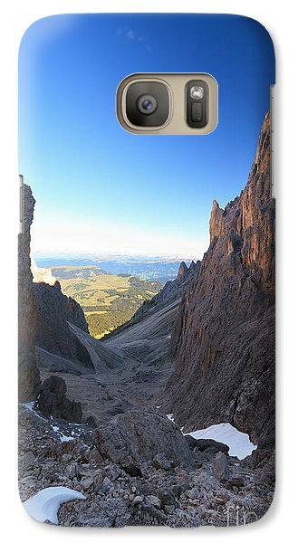 Galaxy Case featuring the photograph Dolomites At Morning by Antonio Scarpi