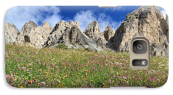 Galaxy Case featuring the photograph Dolomiti - Flowered Meadow  by Antonio Scarpi
