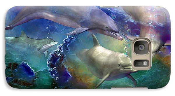 Dolphin Dream Galaxy S7 Case by Carol Cavalaris