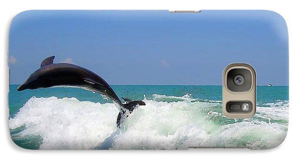 Galaxy Case featuring the digital art Dolphin Flip 2 by Kara  Stewart