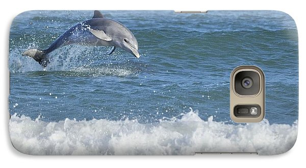 Galaxy Case featuring the photograph Dolphin In Surf by Bradford Martin