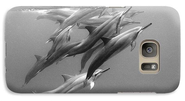 Dolphin Pod Galaxy S7 Case by Sean Davey