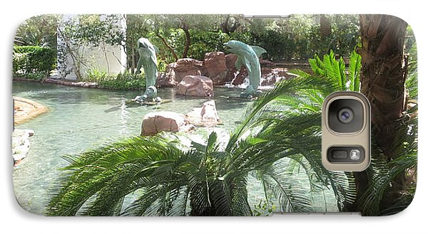 Galaxy Case featuring the photograph Dolphin Pond And Garden Green by Navin Joshi