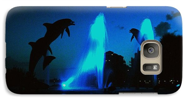 Galaxy Case featuring the photograph Dolphins At Dusk by Gary Wonning