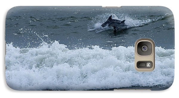 Galaxy Case featuring the photograph Dolphins At Play by Greg Graham