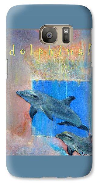 Galaxy Case featuring the pastel Dolphins by Brooks Garten Hauschild