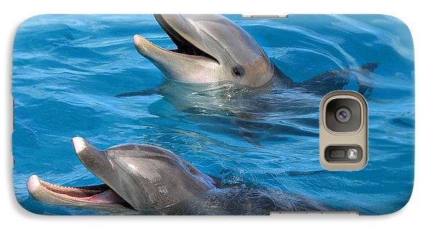 Galaxy Case featuring the photograph Dolphins by Kristine Merc