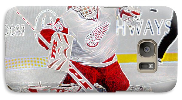 Galaxy Case featuring the photograph Dominic Hasek by Don Olea