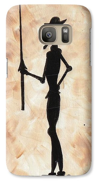 Galaxy Case featuring the painting Don Quijote by Edwin Alverio