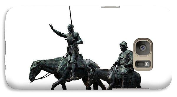 Galaxy Case featuring the photograph Don Quixote And Sancho Panza  by Fabrizio Troiani