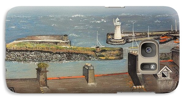 Galaxy Case featuring the painting Donaghadee Ireland Irish Sea by Brenda Brown