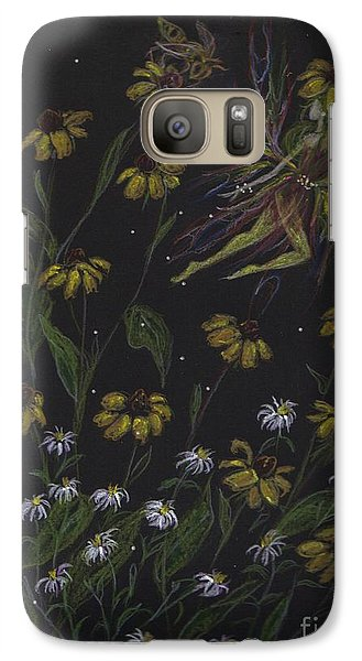 Galaxy Case featuring the drawing Don't Be Following Me by Dawn Fairies
