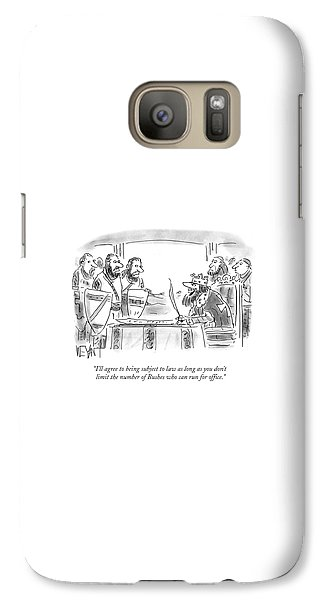 George Bush Galaxy S7 Case - Don't Limit The Number Of Bushes Who Can Run by Christopher Weyant