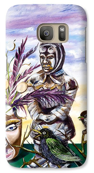 Galaxy Case featuring the painting Don't Look At Me Like That by Susan Culver