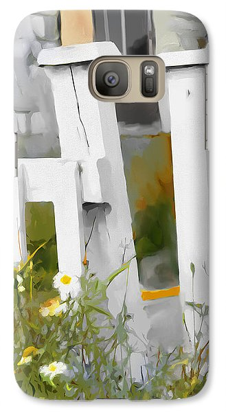 Galaxy Case featuring the painting Don't Pick The Daisies by Bob Salo