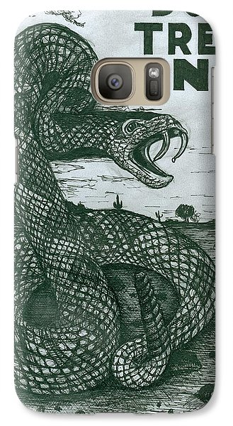 Galaxy Case featuring the drawing Don't Tread On Me by Richie Montgomery