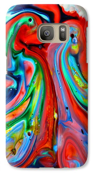 Galaxy Case featuring the painting Dont Worry  Be Happy by Joyce Dickens