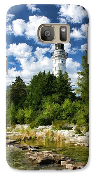 Cana Island Lighthouse Cloudscape In Door County Galaxy S7 Case