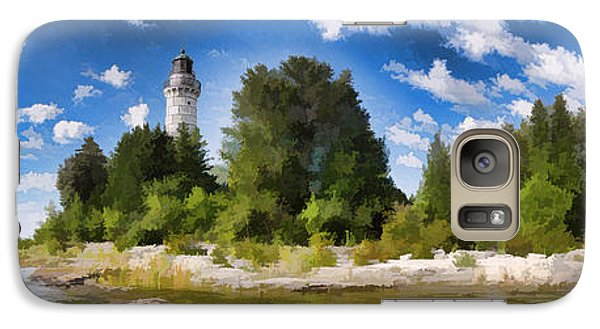 Door County Cana Island Lighthouse Panorama Galaxy S7 Case