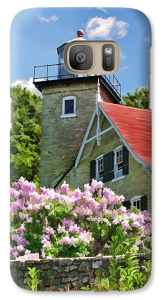 Door County Eagle Bluff Lighthouse Lilacs Galaxy S7 Case
