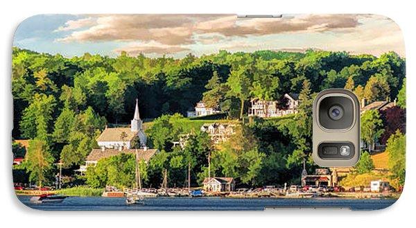 Door County Ephraim Harbor Sunset  Panorama Galaxy S7 Case by Christopher Arndt