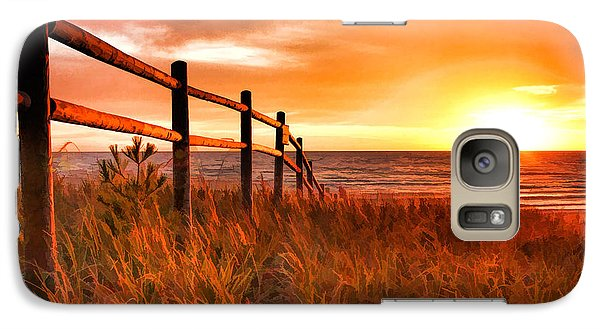 Door County Europe Bay Fence Sunrise Galaxy S7 Case by Christopher Arndt
