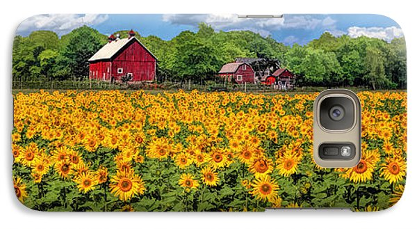 Door County Field Of Sunflowers Panorama Galaxy S7 Case