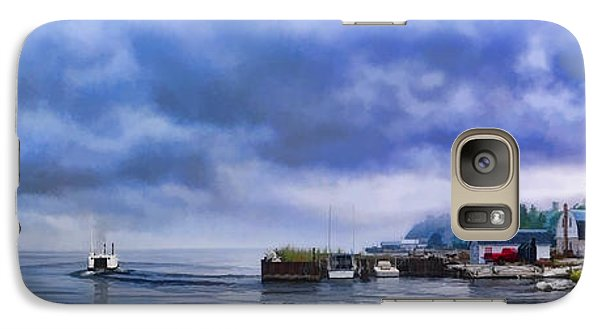 Door County Gills Rock Morning Catch Panorama Galaxy S7 Case