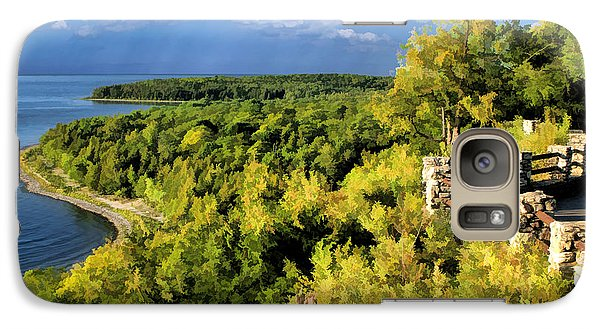Door County Peninsula State Park Svens Bluff Overlook Galaxy S7 Case