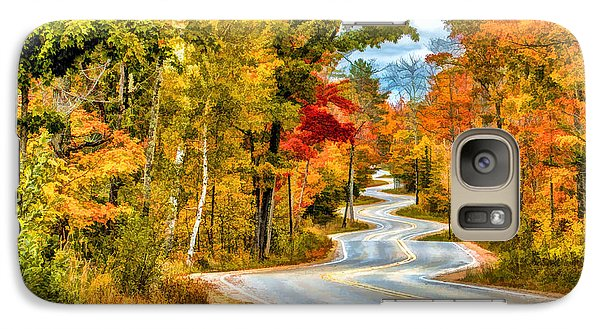 Door County Road To Northport In Autumn Galaxy S7 Case by Christopher Arndt