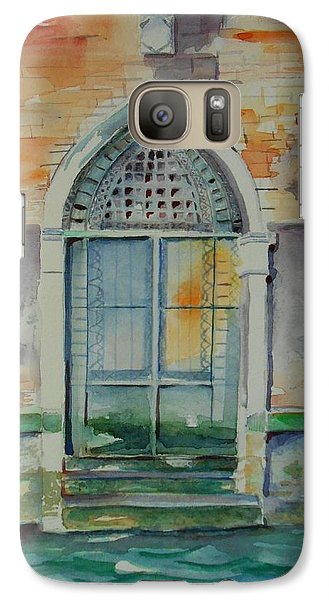Galaxy Case featuring the painting Door In Venice-italy by Geeta Biswas