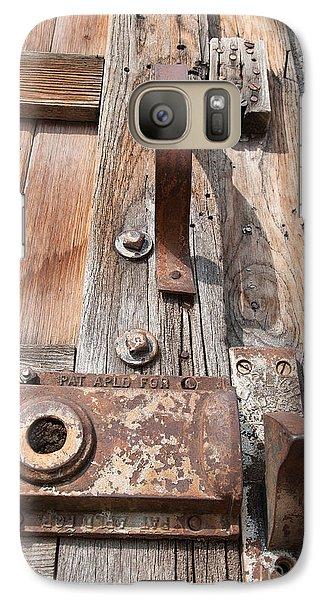 Galaxy Case featuring the photograph Door Knob by Minnie Lippiatt