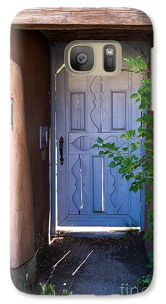 Galaxy Case featuring the photograph Doors Of Santa Fe by Roselynne Broussard