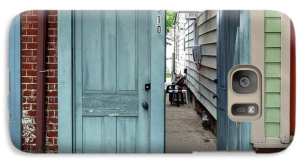 Galaxy Case featuring the photograph Doorways Of Bordentown Series - Door 2 by Sally Simon