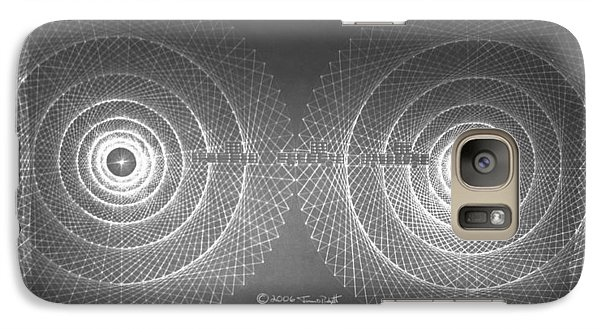 Galaxy Case featuring the drawing Doppler Effect Parallel Universes by Jason Padgett