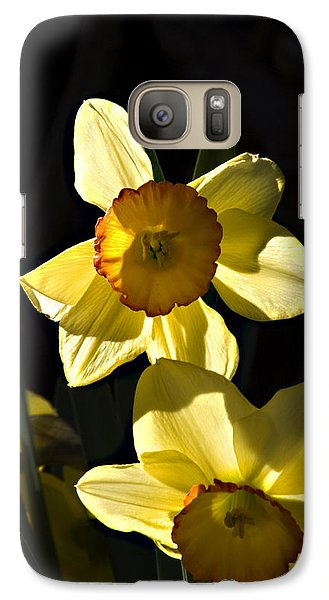 Galaxy Case featuring the photograph Dos Daffs by Joe Schofield