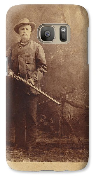 Galaxy Case featuring the photograph Double Barrel Shotgun Hunter by Paul Ashby Antique Image