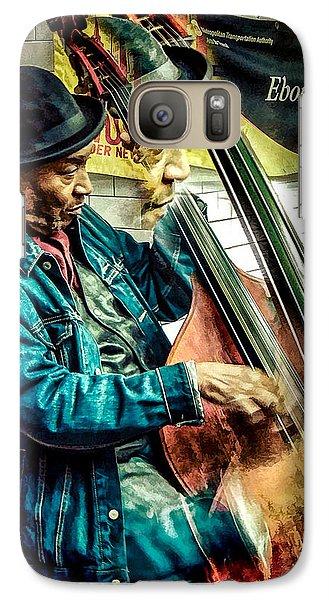 Galaxy Case featuring the photograph Double Bass. Man by Glenn Feron