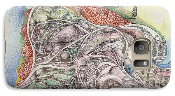Galaxy Case featuring the painting Double Life by Art Ina Pavelescu